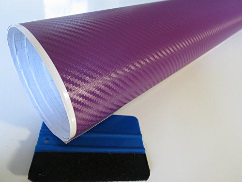 5m Lila matt Carbon Wrappingfolie inkl Luftkanäle Folie Wrapping Karosseriefolie Autofolie
