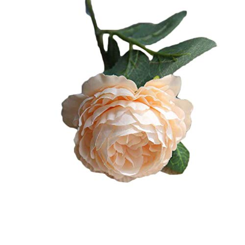 Preisvergleich Produktbild Zerama Artificial Fake Western Rose Flower Wedding Party Peony Bridal Simulation Leaves Flower