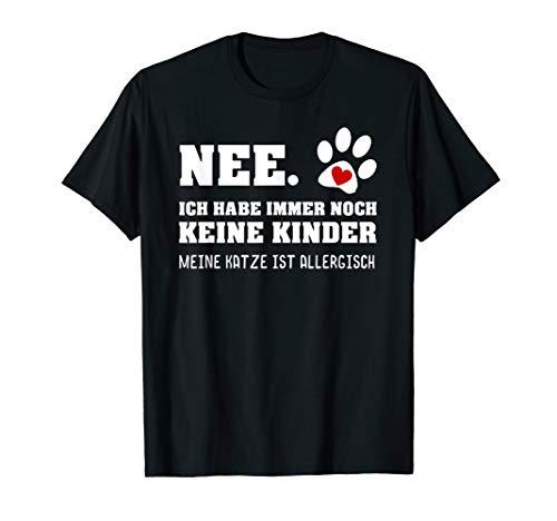 Katzen T-Shirt Katze allergisch Spruch Katzenliebhaber Shirt
