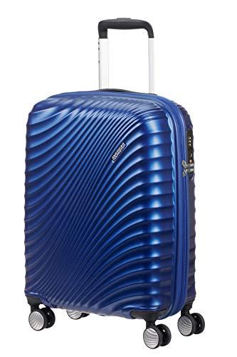 American tourister jetglam - spinner s bagaglio a mano, 55 cm, 35.5 litri, blu (metallic blue)
