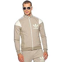 adidas Originals Rus de Pascua para hombres Slim Fit Chándal Top–gris XS