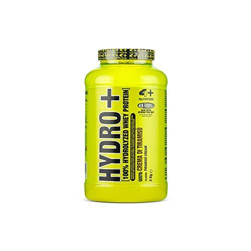 4+ Nutrition Hydro+ 2000g 2kg Hydrolysierte Molkeproteine Protein Pulver Powder Aminosauren mit Vitamine (Tiramisu)