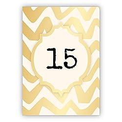 Edle Geburtstagskarte in gold Optik zum 15. Geburtstag • um zum Geburtstag zu gratulieren mit Umschlag geschäftlich & privat