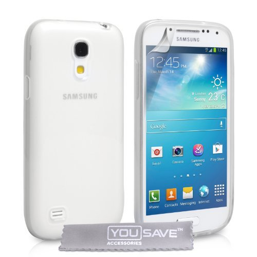 Yousave Accessories Custodia in Silicon Gel per Samsung Galaxy S4 Mini, Chiaro
