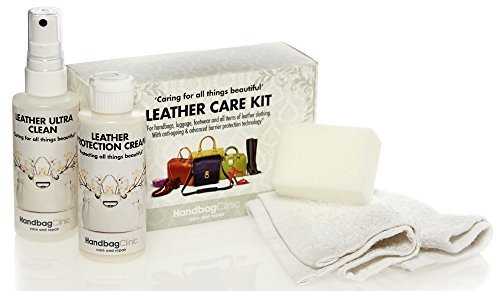 Handbag Care Kit for Leather – Cleaner & Protector for use on Hangbags, Luggage, Shoes, Boots and Leather Clothing