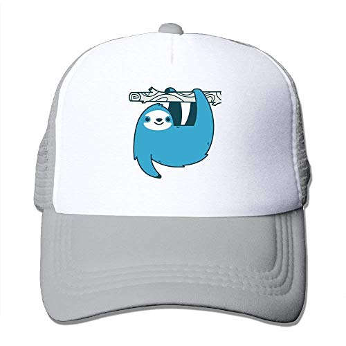 Suxinh Sloth On A Branch Mesh Hat Baseball Caps Funny Grid Hat Adjustable Trucker Cap