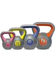 DKN Ensemble de poids Kettlebells en vinyle 2/4/6/8 kg