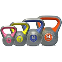 DKN Vinyl Kettle Bell Weight Set - Multicolour, 2-8 kg