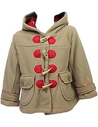Baby Girl'S Minoti Brand Hooded Duffle Coat Jacket