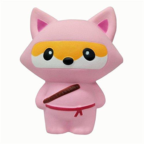 Yeehoo squishy morbido slow rising giocattolo grande volpe antistress giocattolo(rosa)
