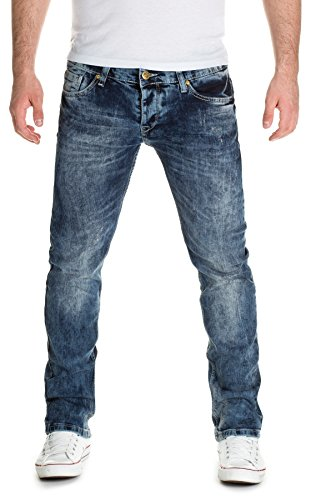 Man1x Herren Jeans - Skinny Jeans Blau