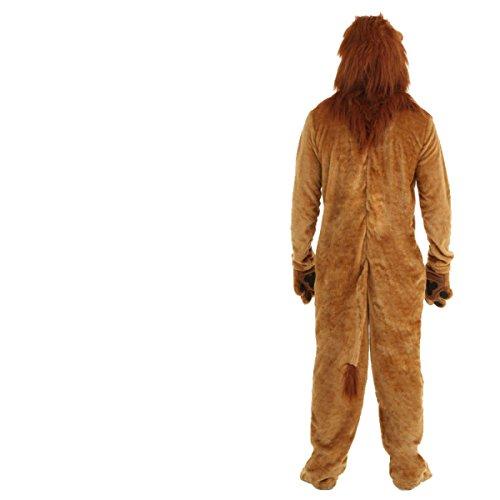 nihiug Lion Suits Halloween Kostüme Tiere Bühne Darsteller Erwachsene Kinder Langes Haar Lions Cos Kleidung Kostüm Komfortvoll Schrecklich,A-AdultXLCode