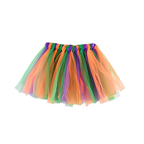 YWLINK MäDchen Kinder Baby Tanzen Fluffy Tutu Rock Pettiskirt Ballett Fancy KostüM Karneval Party Rock TüLlrock (Rosa Und Lila Blumen Ballettröckchen Baby Kostüme)