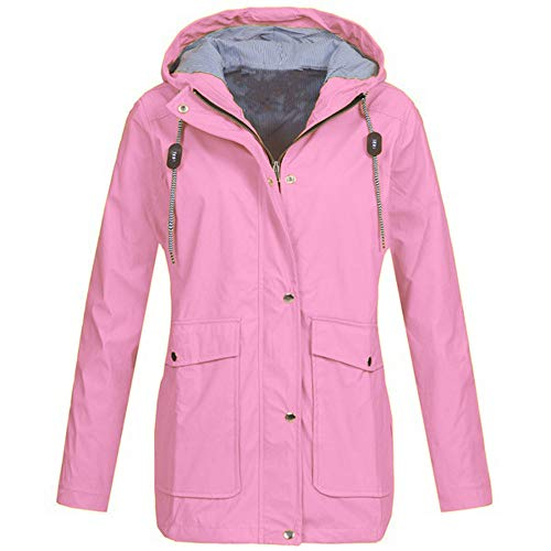 74fa49faa LEXUPE Carnival Women Autumn Winter Warm Comfortable Coat Casual Fashion  Jacket Solid Rain Outdoor Plus Jackets Waterproof Hooded Raincoat Windproof  ...