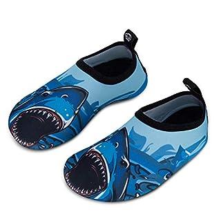 IceUnicorn Kinder Strandschuhe Jungen Mädchen Schwimmschuhe Aqua Schuhe Baby Badeschuhe für Beach Pool Surfen Yoga Unisex(Großer Hai, 32/33EU)