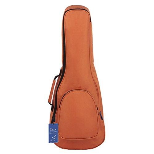 Ultnice 66cm ukulele imbottita borsa durevole custodia convenzionale Uke impermeabile con contenitore di grandi dimensioni (arancione)