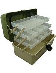 3 bandejas caja de aparejos de pesca, artesanía luxtons, compartimentos ajustables, caja Lunar