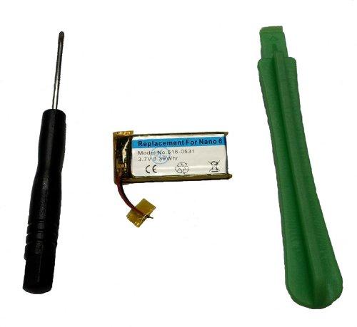 Sintech.DE Limited Batterie mit Werkzeug passend für iPod Nano 6G