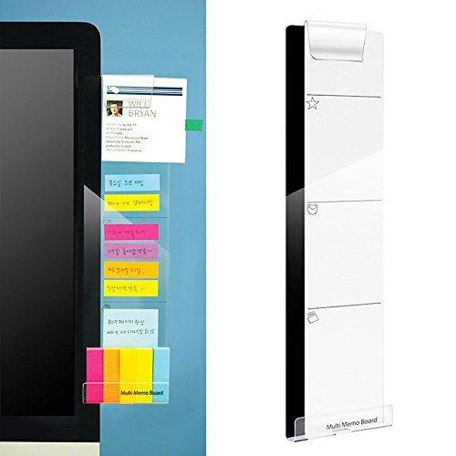 Monitor Memo Pads, Eberry Computer-Monitore Bildschirm Acryl Nachricht Boards/Multi Memo Pads für A4-Papier, Sticky Notes, Handy und mehr, Breite Unterseite mit Loch für Ladekabel und Clip für auf Top Right (Top-computer-monitore)