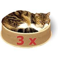 """Cama para gatos """"ComfyCat"""", pack de 3 - Sofá, Cáscara para Gatos Circular, Cómoda, Sana y Resistente a Arañazos de KittyDoo"""