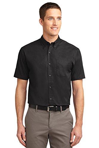 Port Authority® Tall Short Sleeve Easy Care Shirt. TLS508 Black/ Light Stone XLT -
