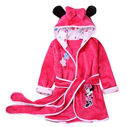 Sexy Unterwäsche MäNner Oyedens Baby-Mädchen-Kind-Flanell-Tier-mit Kapuze Bademäntel-Lange HüLsen-Pyjamas Kinder Lange ärmel Cartoon Disney Serie Flanell Bademantel Pyjamas (Flanell Lange Ärmel)