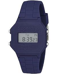 Superdry Retro Digi Digital Blue Dial Men's Watch-SYG201U
