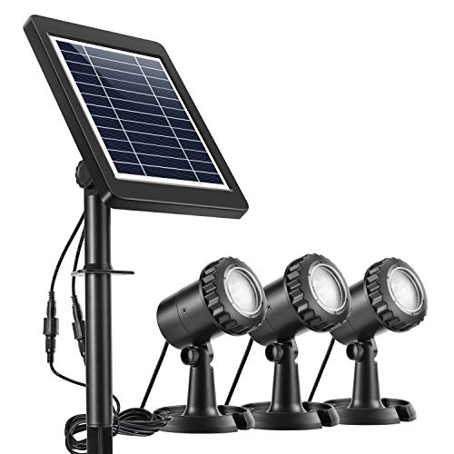 Ankway Luces solares focos para estanques (Paquete de 3), Solares Luces Exterior...