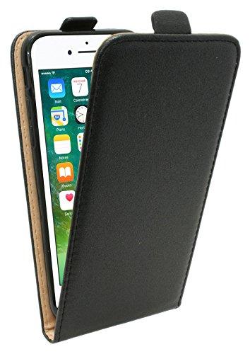 Iphone 7 // Klapptasche Schutztasche Schutzhülle Flip Tasche Hülle Zubehör Etui in Weiß Tasche Hülle @ Energmix Schwarz