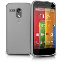 Orzly® - MOTO-G Protective Flexible Soft Silicone Gel Case BLANCO Phone Cover Skin for MOTOROLLA MOTO G - SmartPhone / Teléfono Móvil - TODOS Los Modelos incl. Original 2013 Modelo + 2014 Versión
