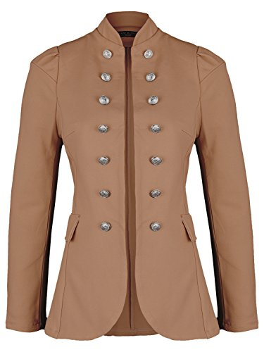 Damen Blazer Militäry Style (513) (44 / XXL, Braun)