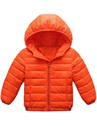 Pagacat Kids Winter Warm Lightweight Down Jacket Cotton Lining Padded Hooded Coat Down