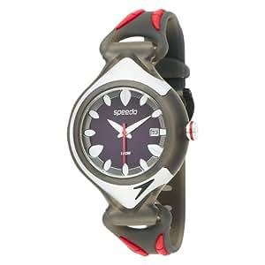 Speedo - ISD50622 - Montre Homme - Quartz Analogique - Cadran Noir - Bracelet Silicone Multicolore