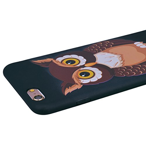 "WE LOVE CASE iPhone 6 Plus / 6s Plus Hülle Retro Schön Relief Kreativ Eule und Geäst iPhone 6 Plus / 6s Plus 5,5"" Hülle Blau Schutzhülle Handyhülle Weich Silikon Handytasche Ultra Dünn Flexibel Cover  owl"