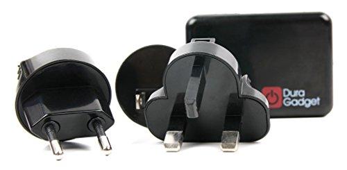 DURAGADGET Premium Reise-Adapter für US | GB | EU | AU. Für Alcatel A3 XL | ZTE Blade V8 Pro | ASUS Zenfone AR + 3 Zoom | Polaroid Power P600SL Smartphone