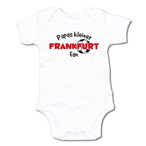 Papas kleiner Frankfurt Fan Baby-Body (250.0240) (0-3 Monate, weiß)