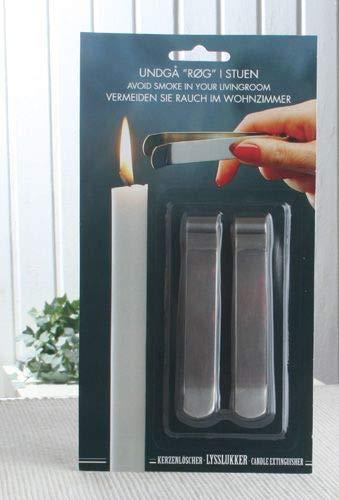 Preisvergleich Produktbild CandleCorner Metall-Kerzenlöscher,  2er-Set,  Silber