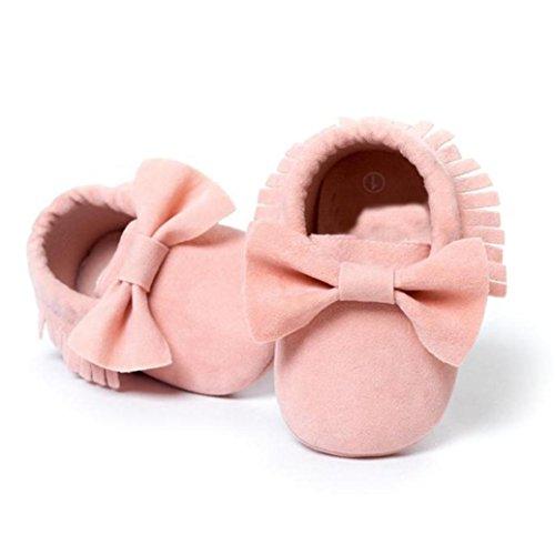 Tênis 18 Borlas Casuais Sapatos Rosa Meses Criança Sapatos Bowknot Ouneed® Rastejando 0 Berço XRwvtq