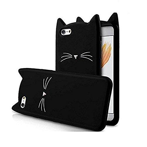 O4U Trending Cat Silicone Soft Back Cover for Vivo V5, V5s, Y66 (Black)