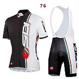logas Sport Herren Fahrradbekleidung Fahrrad-Kurze Hülse Jersey + Bib Shorts Anzug Sportwear