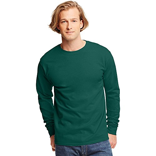Hanes Tagless Long-Sleeve T-Shirt Deep Forest