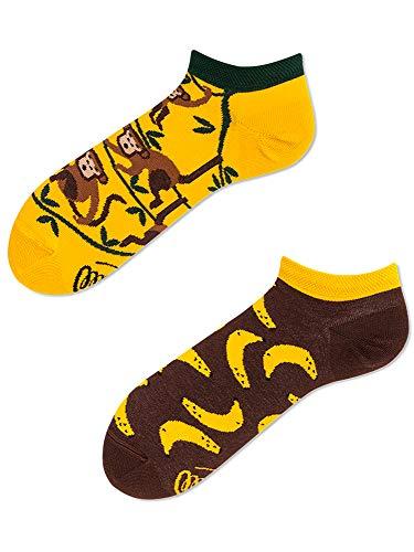 Calcetines tobilleros amarillos unisex 43-46