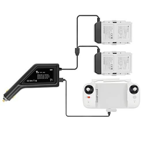 Kismaple 3 in 1 Caricabatteria Auto per FIMI X8 SE Drone fuco Caricatore Multiplo Intelligente Doppio Carica Rapida 2 batterie e 1 trasmettito