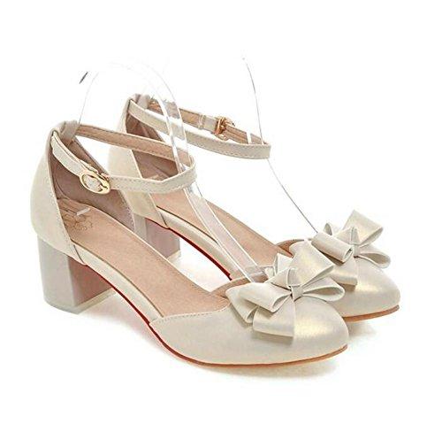 scarpe chiuse delle donne arco dolce bianca spessa sandali tallonati shallow gold