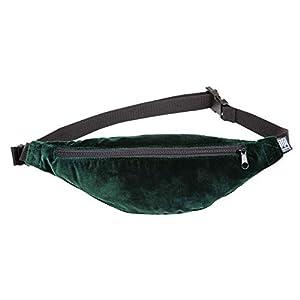 Bauchtasche schmal, Samt grün, Hipbag, Umhängetasche, crossbag, Hüfttasche