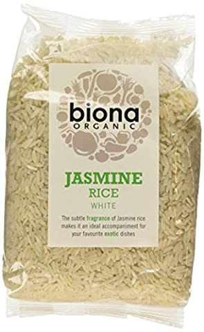 Biona Organic Jasmine White Rice 500 g (Pack of