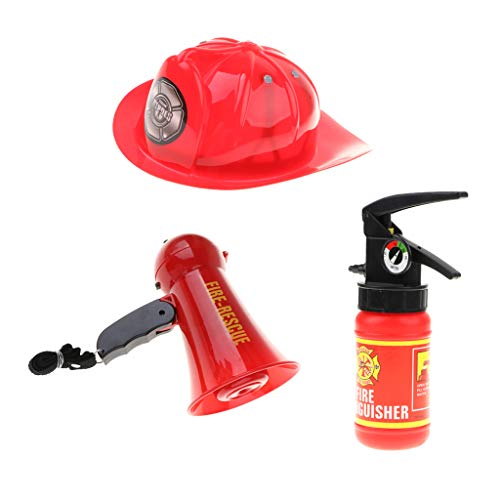 B Blesiya 3er-Set Kinder Feuerwehrmann Rollenspiel Set für -