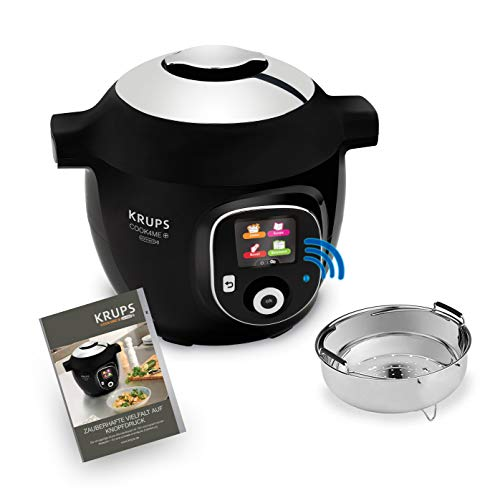 Krups CZ7158 Cook4Me+ Connect Multikocher, 1600 Watt,schwarz/Grau, 4 l