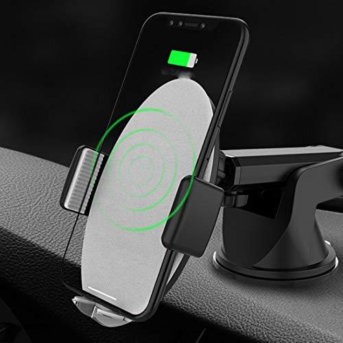 RUNNG Supporto per caricabatteria per Auto Wireless Qi, Supporto per Telefono sfiato/cruscotto/Parabrezza, Compatibile con la Ricarica di iPhone Galaxy iPho