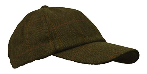 Walker & Hawkes - kids derby tweed baseball cap hunting shooting countrywear hat one-size - dark sage